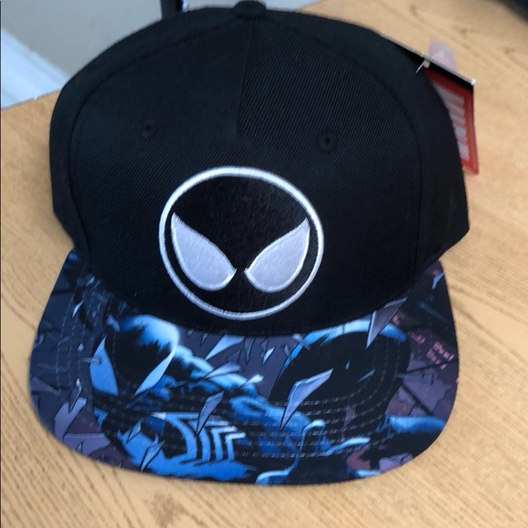 Black Spiderman venom marvel symbiote SnapBack hat 33e72e9a9f95